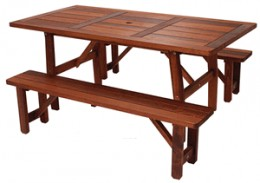 Picnic Table Set w/ Detached Benches