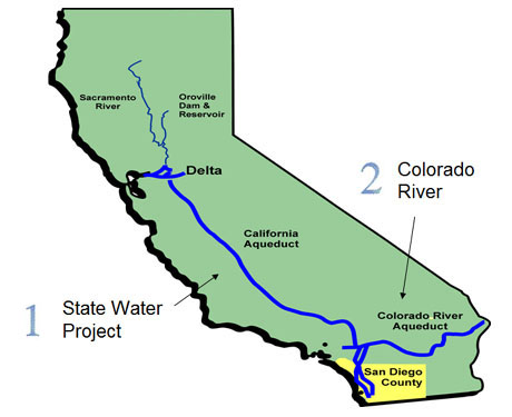 Water to approximately 20 million Californians..