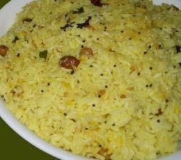 Mango Rice Recipe - Ingredients and Method of Preparation of Maamidikaya Pulihora