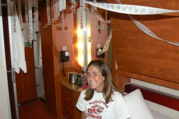 some of the decorations in the cabin