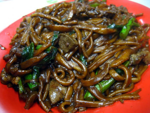 Dark soy sauce, stew-type Hokkien Mee common in Malaysia.