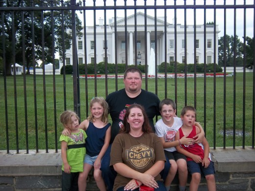 Last thing before heading home-the White House!