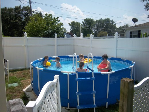 The kids enjoyed pool time with my friend's kids while the adults caught up on old times!