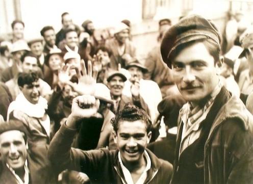Holocaust survivors arrive in British controlled Palestine.