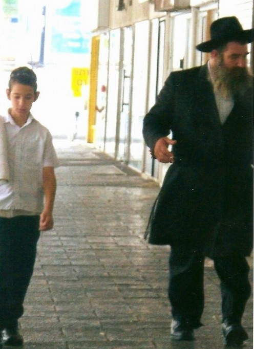 A man and his son on Shabbat
