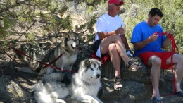 Bob, Pat, Denaya and Griffin watching Molly