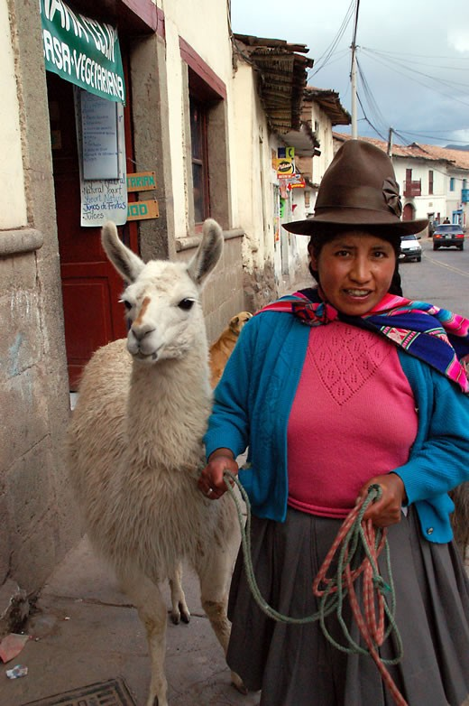 Woman with Llama in Cusco