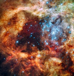 R136 (RMC 136th) cluster of young and massive stars.