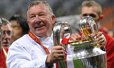 Sir Alex Ferguson after winning the 2008 Champions League