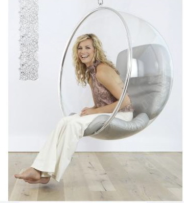 """Create A """"Wow-Factor"""" With A Hanging Bubble Chair"""