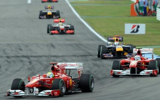Alonso makes his move on Massa
