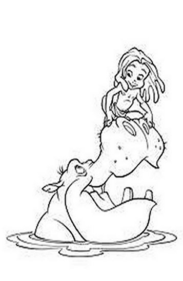 Tarzan Cartoon Kids Coloring Pages Free Colouring Pictures to Print