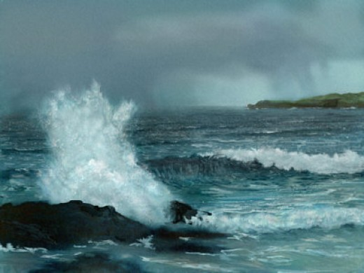 Stormy Sea, copyright Graham Jones