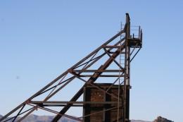 Equipment at an abandoned mine near Wickenburg Arizona.