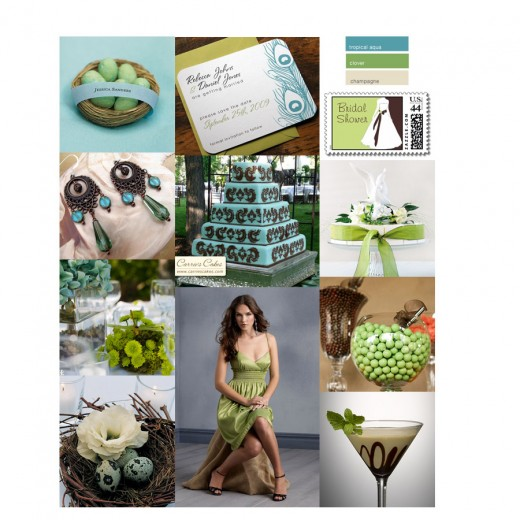 Color boards are a wonderful inspiration for wedding planning.