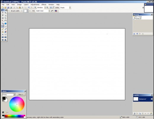Open your image editing software. We've used Paint.net here.