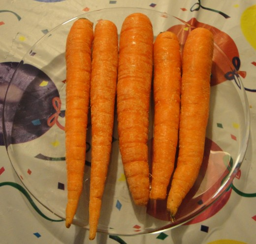 - Take 5 medium fresh carrots.