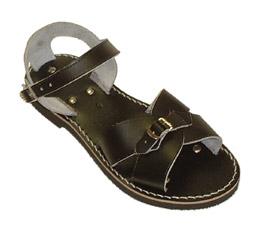 From school-boy roman sandal...