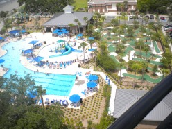 View of new play area from the top of the lighthouse.
