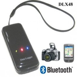 Ecom North DLX48 3-in-1 GPS for Navigation Bluetooth Receiver, Photo Shooting / Photo Tagger (Flickr, Google Earth) and Data Logger / Travel Tracker Tracking
