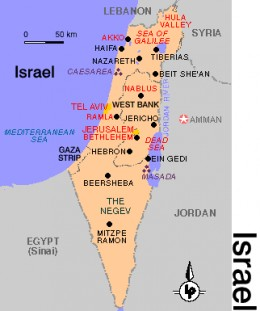 Present map of Palestine