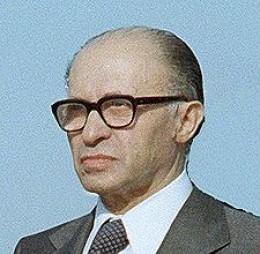 MENACHEM BEGIN, (21 June 1977-10 Oct.1983), 6th Prime Minister of Israel