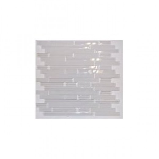 Zen ICICLES Glass Mosaic Tiles For Kitchen Bathroom Backsplash, Shower Walls - 10 Tiles per Box - Minimum Order 1 Box - Price is Per Tile