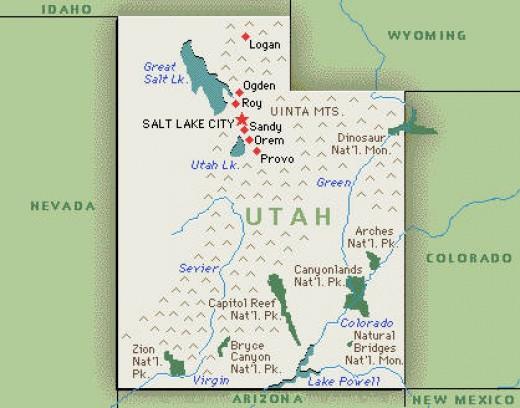 map of utah national parks. usa/utah/map.htm