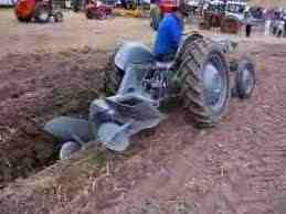 A Fergie ploughing showing system