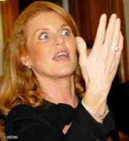 Sarah Ferguson.  That's a hand...get me a foot, a foot...with toes on!