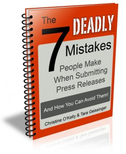 The eBook 'The 7 Deadly Mistakes of Press Release Writing: And How You Can Avoid Them' is available as a free download on OnlinePRNews.com.