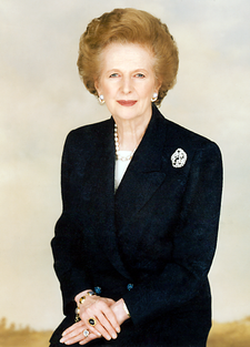 MARGARET THATCHER (4 May 1979-28 Nov.1990), Prime Minister of UK
