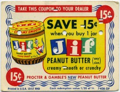 Great picture of an old Jif coupon.