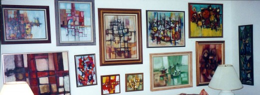 Paintings that used to hang in the Rogan's living room in Beaumont, Texas (Many have or are now being sold.)