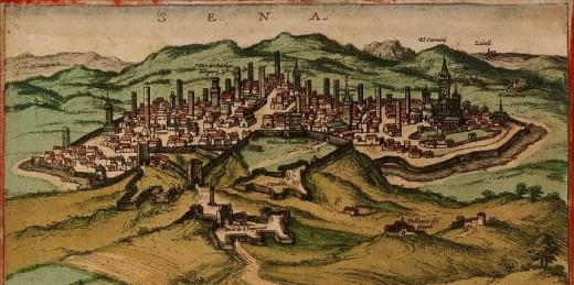 Siena, Italy, ca. 1572, from Civitates Orbis Terrarum