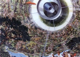 For those really long space voyages between the stars, a bernalsphere would be a space built and inhabitable inside out mini earth environment.