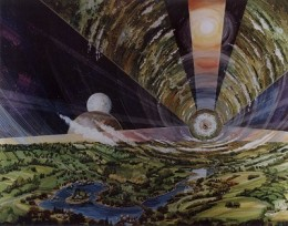 Another concept is borrowed from Gerard O'Neil, who envisaged huge cylinders in space containing complete ecosystems. There is a tremendous amount of work ahead to build this or the bernalsphere.