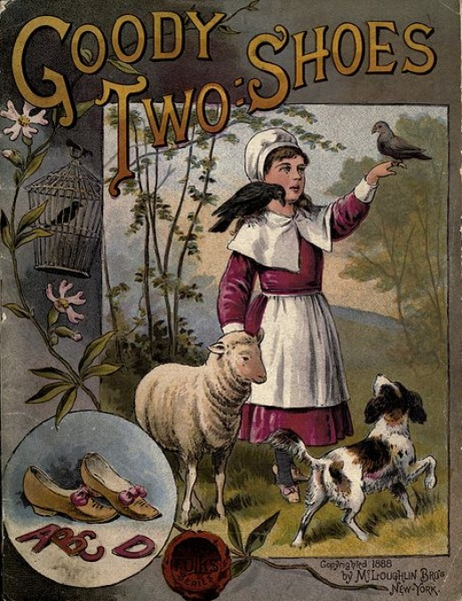"The cover of the anonymous 18th century children's book, ""The History of Goody Two-Shoes,"" which popularized the title phrase.  (Public Domain)"