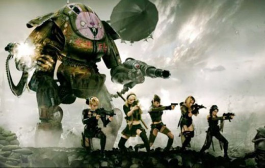 Five leather clad chicks do battle in an incredible fantasy world full of giant robots and danger