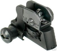 Modern rail sight for AR 15 rifles, basic target