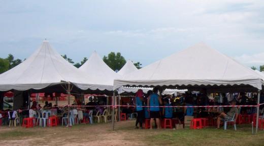 Team tents