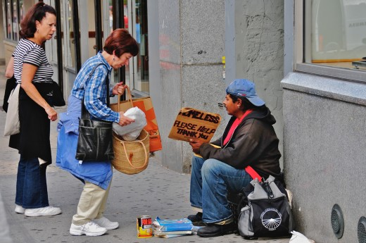 Helping the homeless is an excellent way to show concern for the less fortunate.    Photo Credit: Ed Yourdon on Flickr