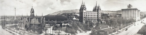 Temple Square in 1912.