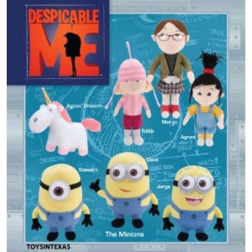 Despicable Me Minions and other plushes