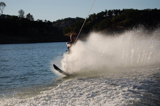 Me water skiing