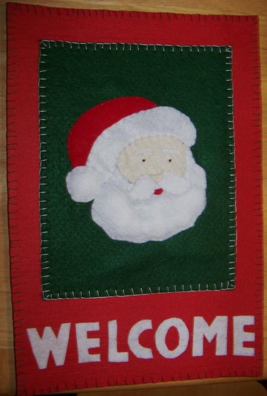 Santa Door Sign