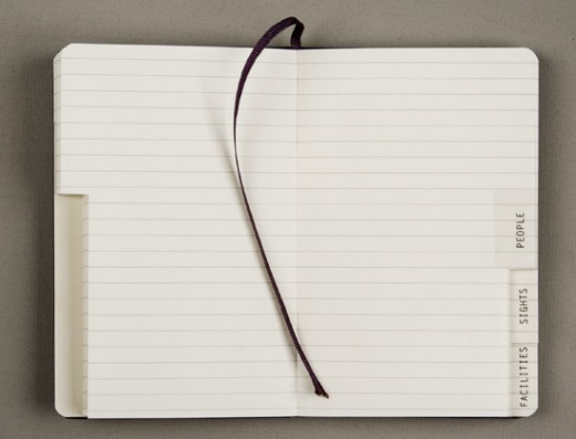 192 lined and pre-tabbed pages with an inner noteholder made of cloth and cardboard Dimensions: (9x14 cm)