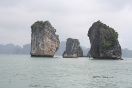 Some of the many Halong Bay islands