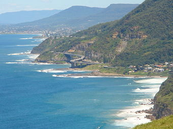 Looking south toward the Sea Bridge from Stanwell Park Lookout
