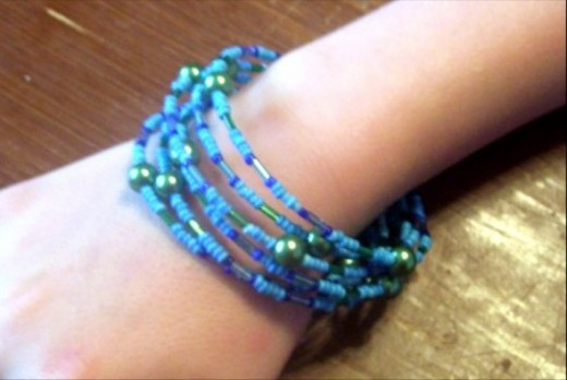 Memory wire provides a lot of great bracelet ideas.